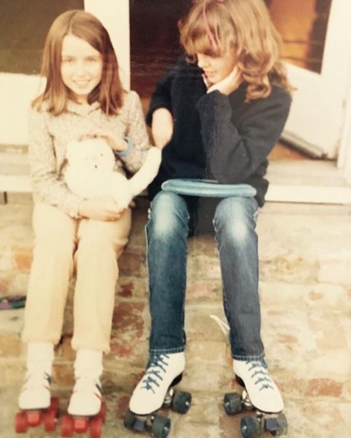 """Kylie and Dannii in their """"tweens""""."""