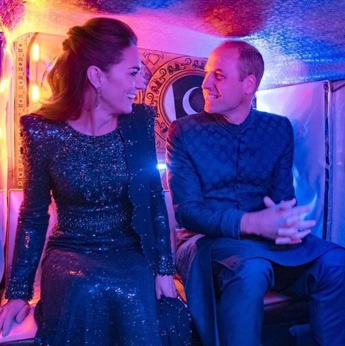 Wills and Kate shared an amazing clip of themselves riding a tuk tuk to a glamorous reception in Pakistan.