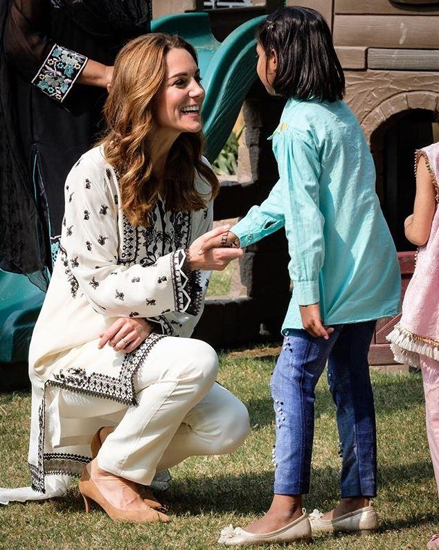The royal shared some special moments with children at the SOS Village.