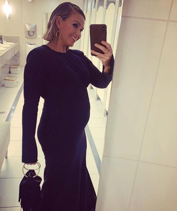 The Channel Seven star flaunted her baby bump at the TV WEEK Logies in July.