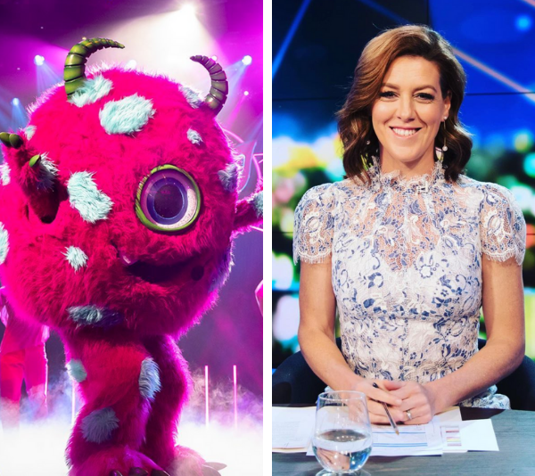 The Monster has been unveiled as Aussie TV personality **Gorgi Coghlan**!