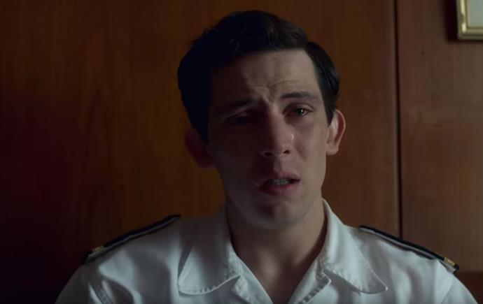 Prince Charles is seen looking upset in the new trailer.