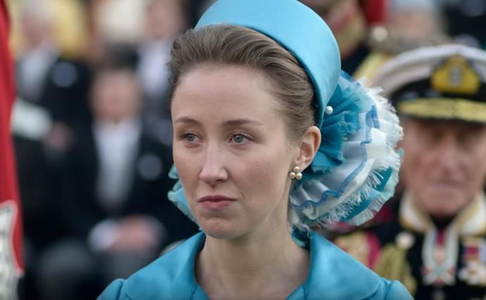 The Queen's daughter Princess Anne, played by *Call the Midwife's* Erin Doherty is also seen in the new trailer.