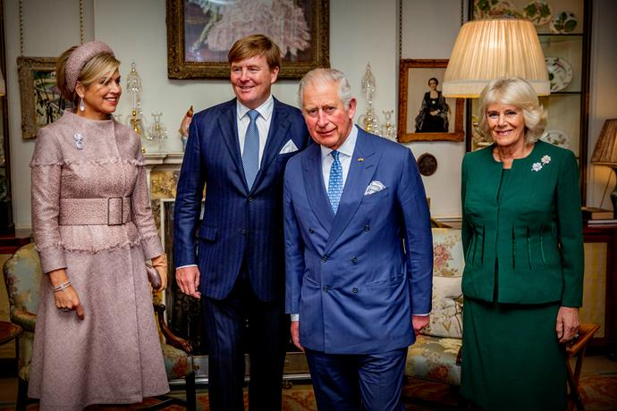 Prince Charles will join various international royals in Japan this week, including the pictured Queen Maxima and King Willem-Alexander of The Netherlands.
