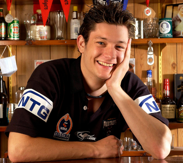 A fresh faced Rob Mills poses for an *Australian Idol* shoot in 2003.