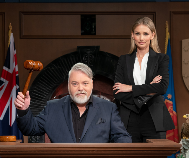 Kyle Sandilands and Anna Heinrich are about to launch *Trial By Kyle*.