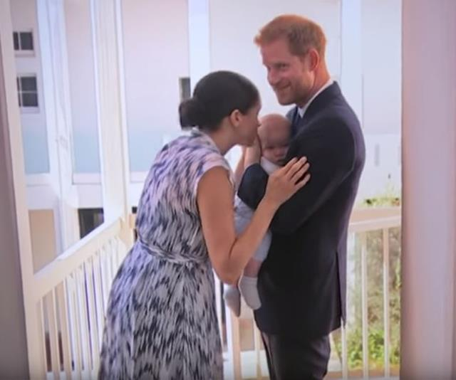 The Sussex family caught in a sweet moment