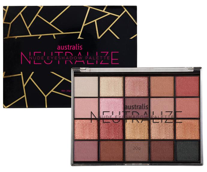"**Australis Eyeshadow Palettes, approximately $26, from Priceline** <br><br> ""So many fun colours including some glitter shadows!"" said Tobi."