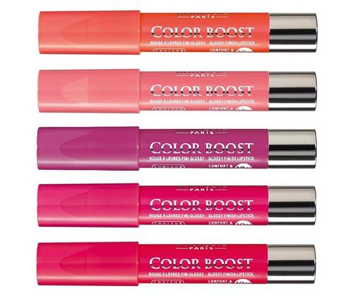 "**Bourjois Colour Boost Lip Crayons, $15 from Priceline and ASOS (available with AfterPay)** <br><br> ""I love a crayon style lip colour for summer or for shooting on the beach,"" Max said.  <br><br> ""It's a lip pencil, colour and gloss or sheen in one! It's all about that care-free product that can still be high-impact and with four awesome shades to suit most skin tones they're always high on my re-stock list. They even work great on cheeks – giving a youthful pink glow! I get mine through ASOS online using where you can see the whole colour range."" <br><br> TIP: If you're drawing attention to your lips with a bold colour, ensure any dark stains on your teeth are removed with a whitening toothpaste. Try Colgate's [Optic White](https://www.colgate.com.au/products/toothpaste/colgate-optic-white-stain-less