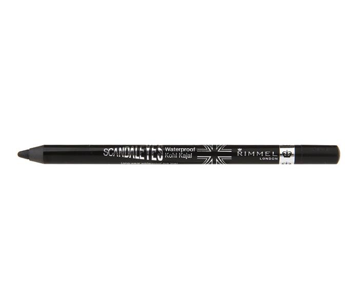 "**Rimmel Scandal Eyes Waterproof Eyeliner, $5.50 from Priceline, Chemist Warehouse, ASOS, Kmart, Target** <br><br> ""I love this liner for doing the inner rim/water line of the eyes or for smudging along the eye line. It sits beautifully in the water line (being water proof) and once it sets on the skin it holds tight,"" Max said.  <br><br> ""Tip: Make haste with the smudging when you apply. You have under a minute max before it sets."""