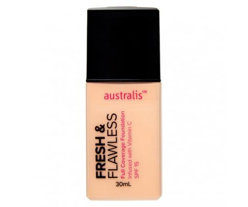 "**Australis Fresh & Flawless Foundation, $19.95 from Priceline** <br><br> ""I recently tried the Australis Fresh & Flawless Foundation. It is super light weight yet has incredible, buildable coverage. It reminds me of Estée Lauder's Double Wear Foundation,"" Tobi said."
