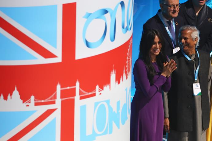 The event was a poignant one for Meghan.