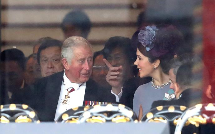 We spy two very glamorous royals!