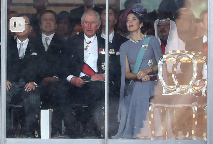Crown Princess Mary and Prince Charles were seen sharing an animated conversation together. Oh to be a fly on the wall!
