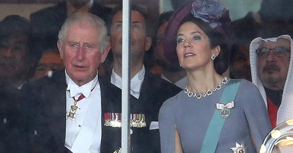 Princess Mary visits Japan in stunning lilac gown alongside Prince Charles | Australian Women's Weekly