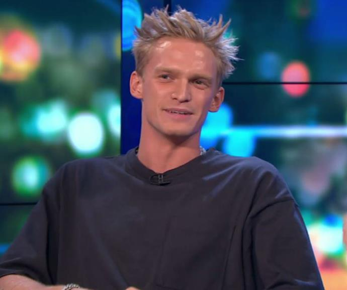 Cody Simpson appeared on *The Project* on Tuesday night following his winning appearance on *The Masked Singer*.