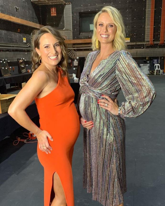 And there must be something in the water at Channel Nine as she and Jayne Azzopardi are due one week apart from each other in early 2020!