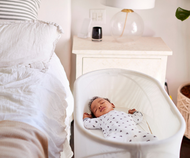 Given their smaller, more compact size bassinets are often the first choice for parents wishing to keep bub close in the early days. If you have space in your room, a regular cot is the safest option