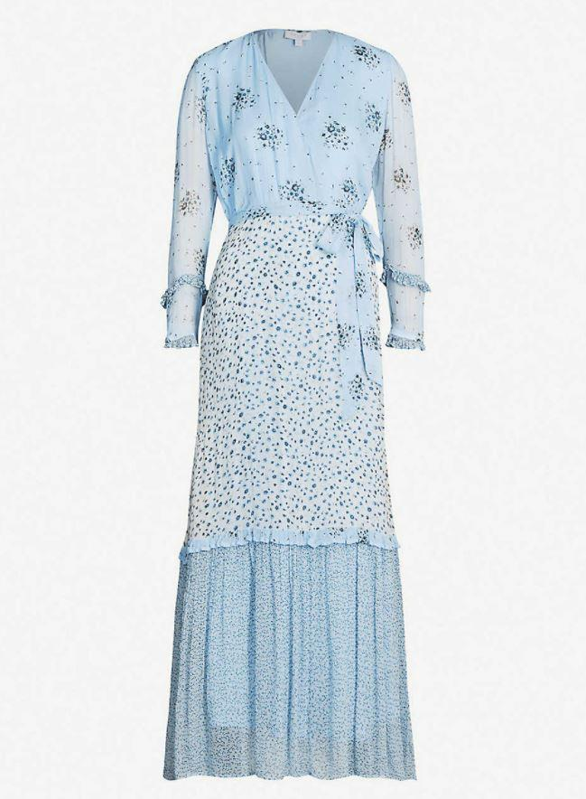 Kate's blue dress was identified as a Ghost design, and provides us with all the Spring outfit research answers we never knew we needed.