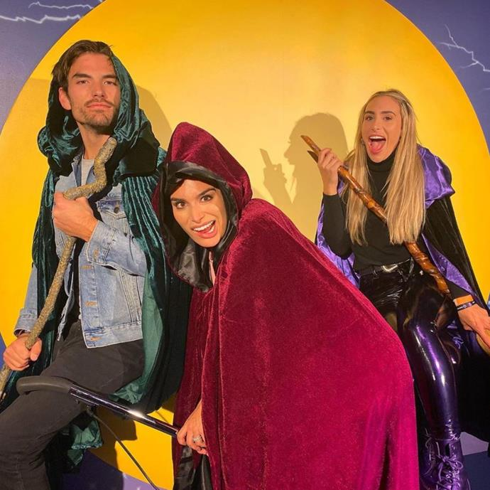 *Bachelor in Paradise*'s Jared Haibon got up to some witchy behaviour with his wife Ashley Iaconetti Haibon and her sister, Lauren.