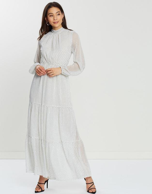 "Mink Pink cosmic chiffon maxi dress, $83.97. Buy it via The Iconic [here](https://www.theiconic.com.au/cosmic-chiffon-maxi-dress-898122.html|target=""_blank""|rel=""nofollow"")."