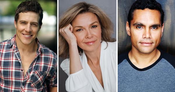 Justine Clarke, Steve Peacocke and Rob Collins in new TV show   TV WEEK