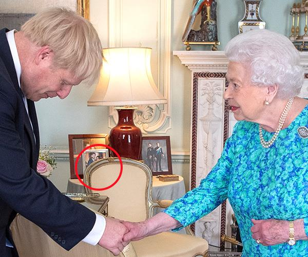 Prince Harry and Duchess Meghan's portrait was last seen in July.