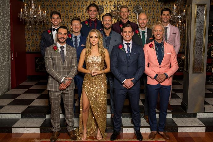 Angie Kent with her Top 10 suitors.