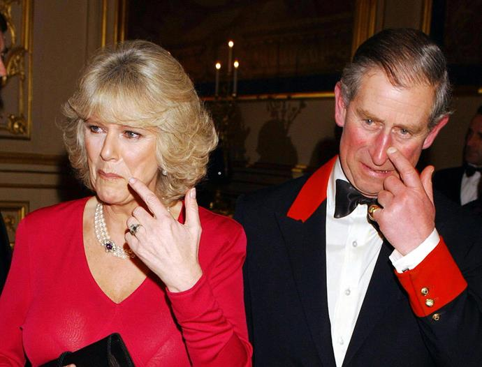 """Take two for Prince Charles was unsurprisingly more heartfelt. <br><br> The Prince of Wales proposed to Camilla Parker Bowles with a family heirloom art deco style ring that was said to have been given to the Queen Mother in 1926 when the Queen was born. And when asked if Charles got down on one knee, Camilla told a reporter, """"Of course!"""""""
