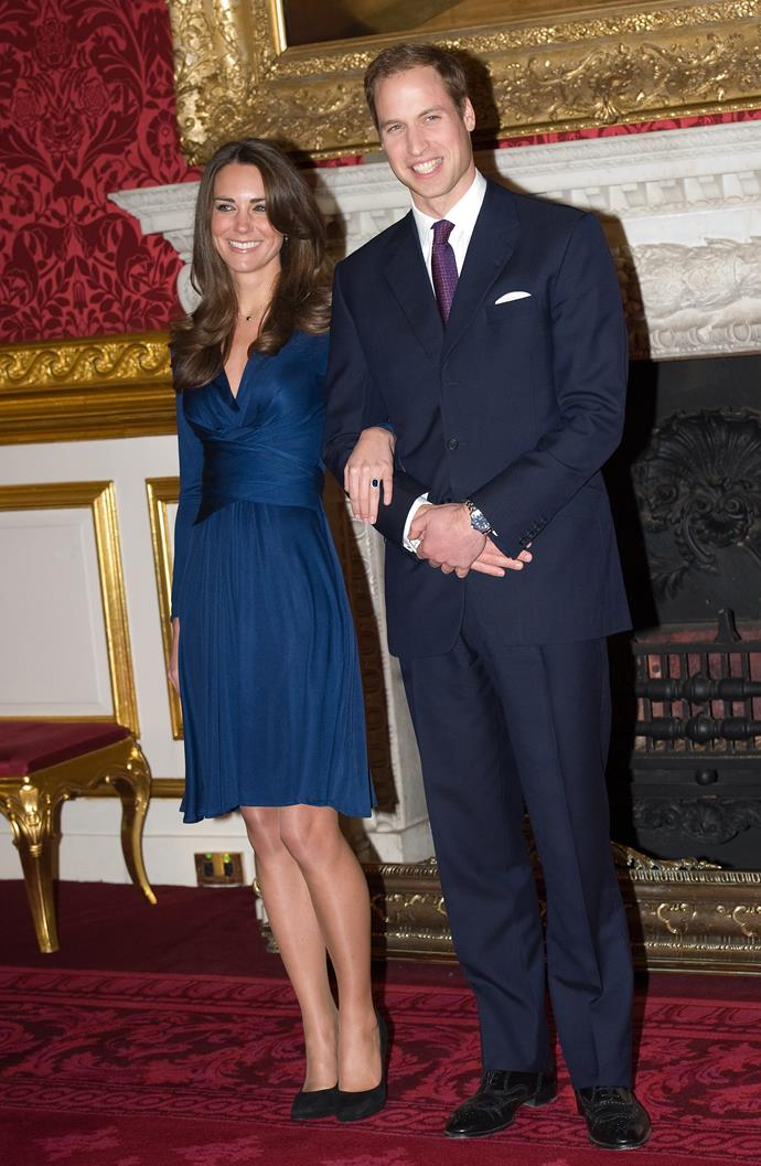 """Prince William asked his girlfriend of 10 years Kate Middleton to be his bride in October 2010 on a trip to Kenya with friends. <br><br> Various reports claim the exact location was Rutundu Cabin in the foothills of Mount Kenya and Kate herself described the proposal as """"very romantic"""" and that """"there's a true romantic in there."""" <br><br> While marriage had been a talking point for a while, William confessed that he kept the ring that formerly belonged to Princess Diana in his backpack for three weeks and wouldn't let it out of his sight."""