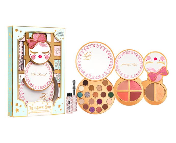 "Let It Snow, Girl Set, $75 at [Mecca](https://www.mecca.com.au/too-faced/let-it-snow-girl-set/I-040216.html?cgpath=gifts|target=""_blank""