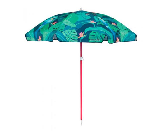 "Monteverde Beach Umbrella by [Sunnylife](https://www.sunnylife.com.au/products/beach-umbrella-monteverde-ss19|target=""_blank""