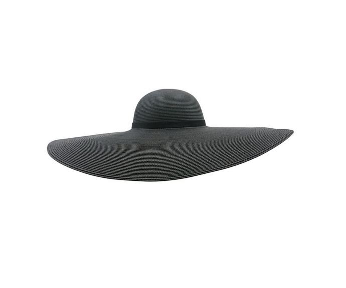 "Morgan & Taylor oversized round crown hat, $99.95. [Buy it via Myer here](https://www.myer.com.au/p/morgan-taylor-oversized-round-crown-hat|target=""_blank""|rel=""nofollow"")."