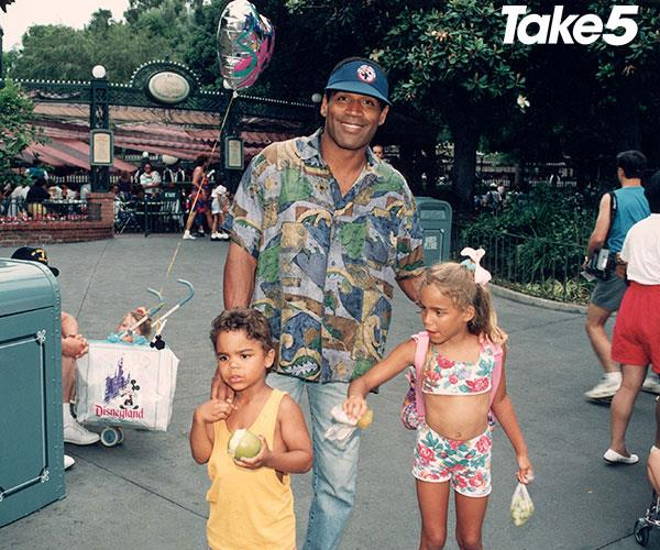 OJ with his and Nicole's children, Justin and Sydney.