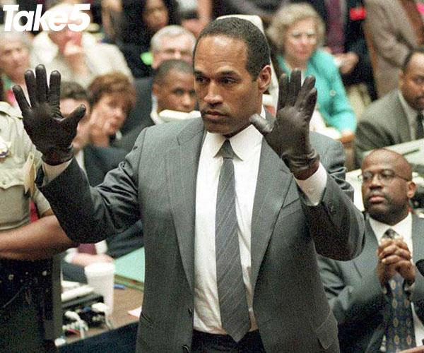 OJ giving evidence in court.