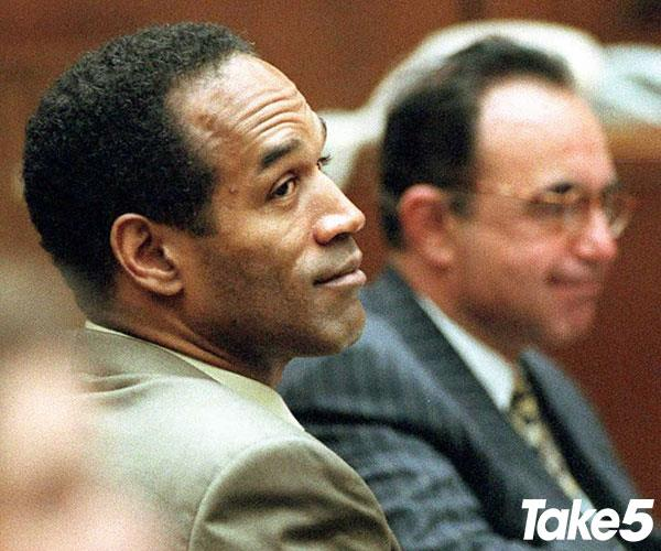 OJ was arrested after leading police on an epic car chase.