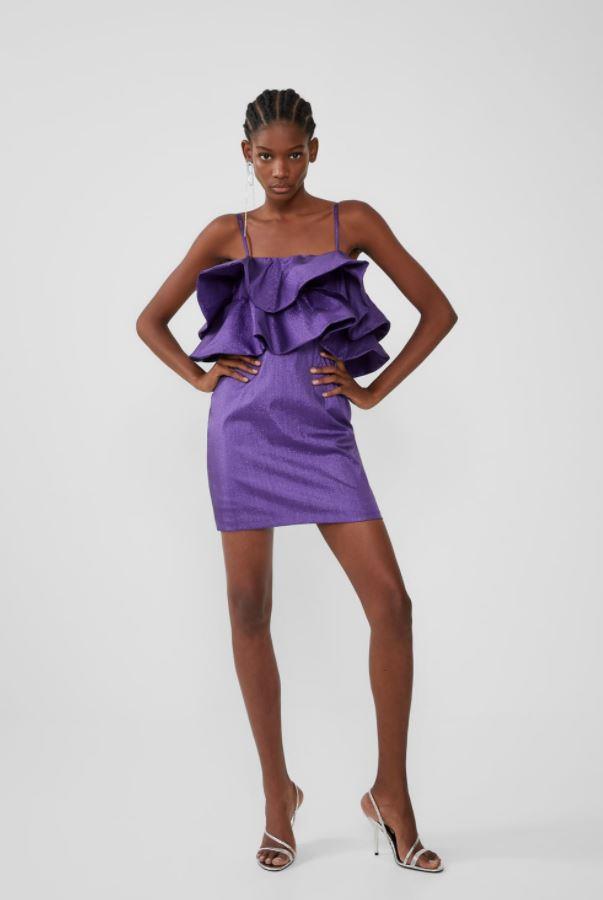 "ZARA ruffled metallic thread dress, $69.95. [Buy it online here](https://www.zara.com/au/en/ruffled-metallic-thread-dress-p08342904.html|target=""_blank""|rel=""nofollow"")."