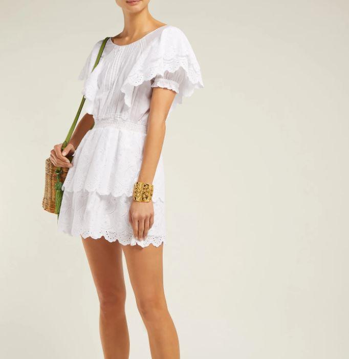 "SIR gabriel ruffled cotton mini dress, $167. [Buy it online via MatchesFashion here](https://www.matchesfashion.com/au/products/1247007|target=""_blank""|rel=""nofollow"")."