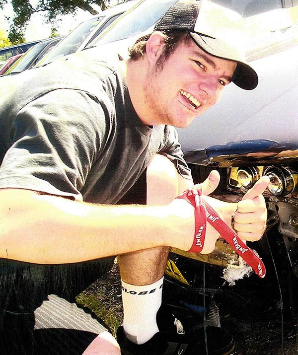 Brendon was 19 when he lost control of the car he was driving.