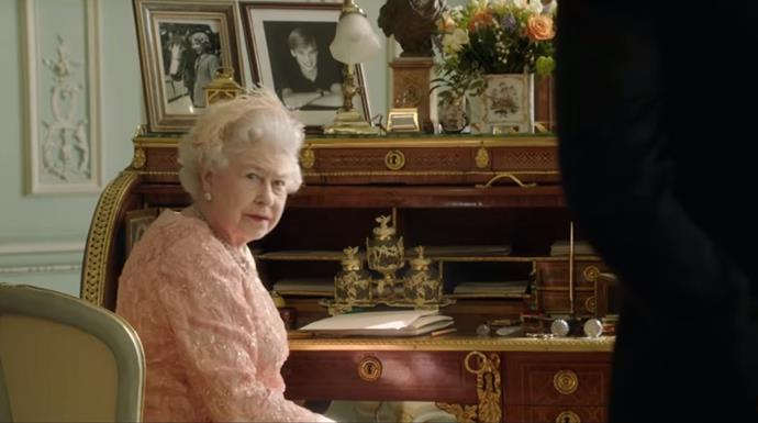 The Queen played herself during a James Bond themed scene at the 2012 Olympics Opening Ceremony.