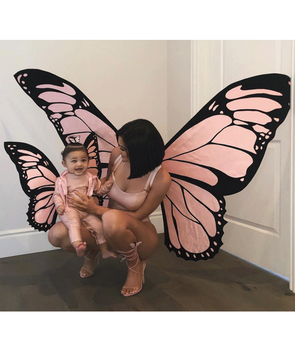 Kylie Jenner and Stormi twinned as beautiful butterflies for Halloween 2018.