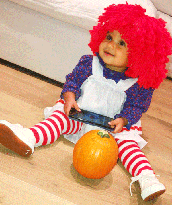 Rob Kardashian and Blac Chyna's daughter, Dream made an adorable Raggedy Ann for her first Halloween in 2018.