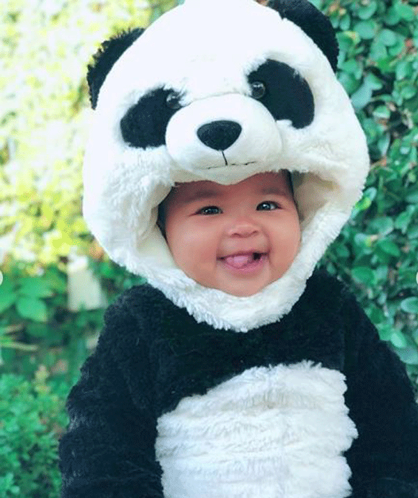 Khloe Kardashian's daughter True nailed her first-ever Halloween. Mum, Khloe dressed her up as a panda, and....