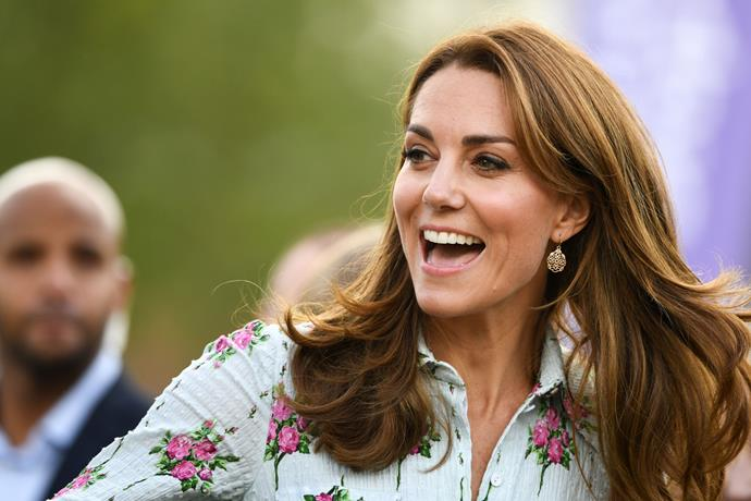 Kate's gorgeous golden earrings worn to an event in Surry were only $8.