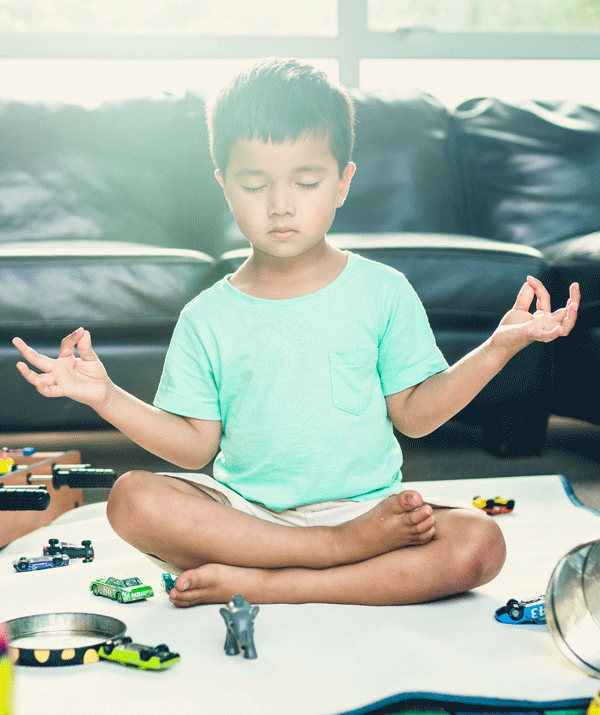 Meditation can help calm your child's mind.