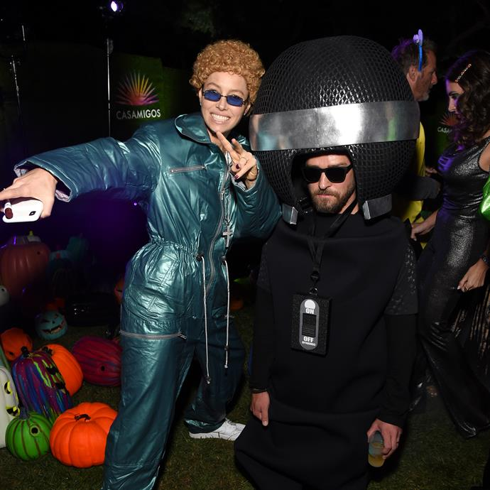 Justin Timberlake and Jessica Biel didn't hold back when it came to Halloween attire.
