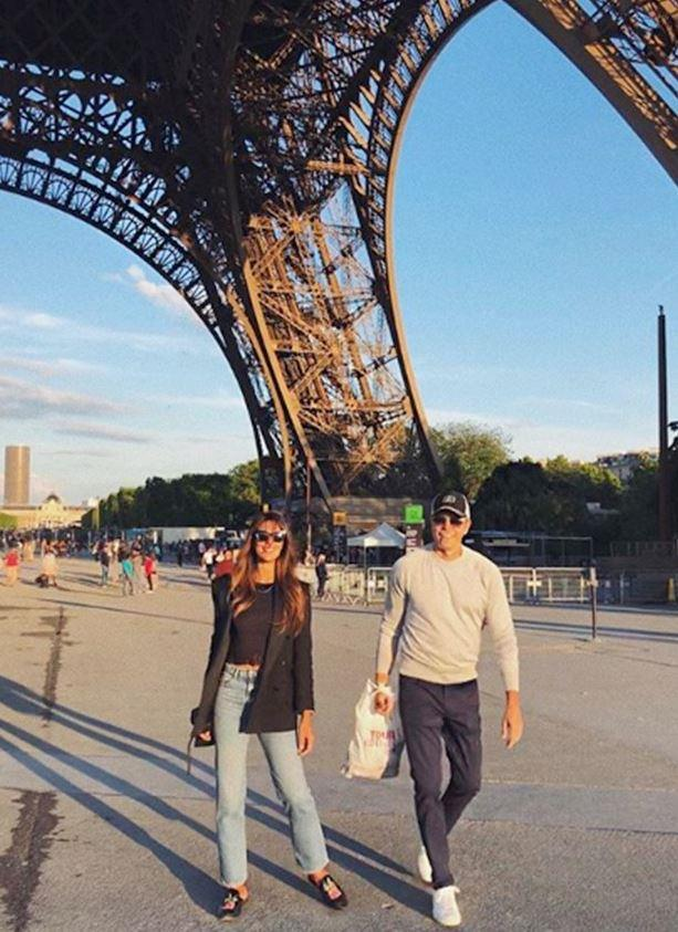Pia and Patrick travelled to France together earlier this year.