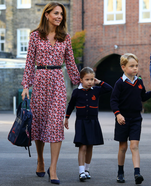 "For Princess Charlotte's first day of school, Kate wore this gorgeous [printed dress by Michael Kors](https://www.nowtolove.com.au/fashion/fashion-news/kate-middleton-michael-kors-dress-58082|target=""_blank""). And all our spring inspiration dreams came true!"