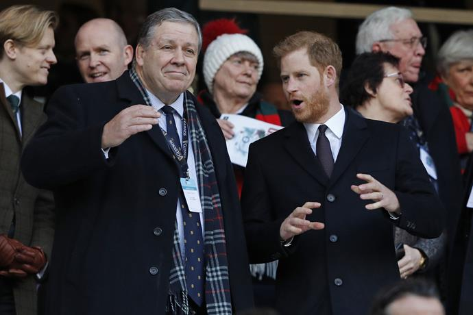 Prince Harry will fly to Japan to watch England play South Africa in the Rugby World Cup final.