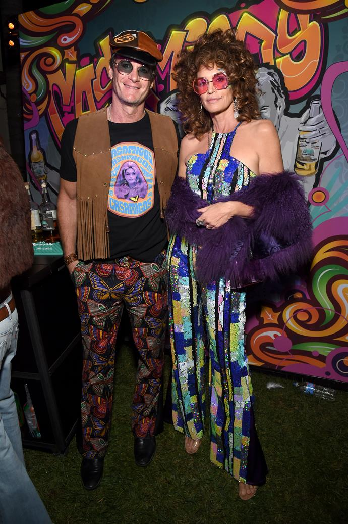 Groovy couple Rande Gerber and Cindy Crawford were the hosts with the most at the Casamigos party.
